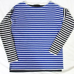 Jenni Kayne Striped 100% Cashmere Pullover Sweater